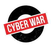 Cyber War rubber stamp. Grunge design with dust scratches. Effects can be easily removed for a clean, crisp look. Color is easily changed Royalty Free Stock Photography