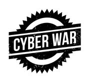 Cyber War rubber stamp. Grunge design with dust scratches. Effects can be easily removed for a clean, crisp look. Color is easily changed Royalty Free Stock Photo