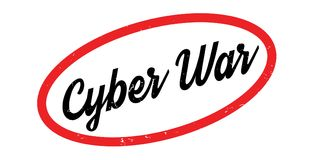 Cyber War rubber stamp. Grunge design with dust scratches. Effects can be easily removed for a clean, crisp look. Color is easily changed Stock Photography