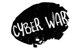 Cyber War rubber stamp. Grunge design with dust scratches. Effects can be easily removed for a clean, crisp look. Color is easily changed Stock Images