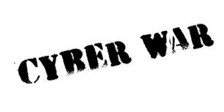 Cyber War rubber stamp. Grunge design with dust scratches. Effects can be easily removed for a clean, crisp look. Color is easily changed Stock Image