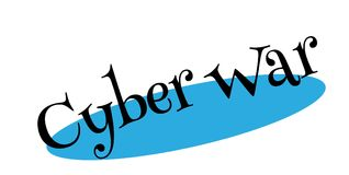 Cyber War rubber stamp. Grunge design with dust scratches. Effects can be easily removed for a clean, crisp look. Color is easily changed Stock Photo