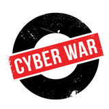 Cyber War rubber stamp Royalty Free Stock Image