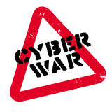 Cyber War rubber stamp Stock Image