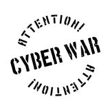 Cyber War rubber stamp Stock Images