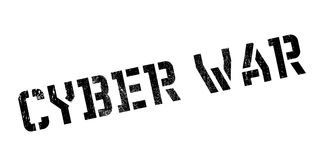 Cyber War rubber stamp Stock Photos