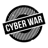 Cyber War rubber stamp Royalty Free Stock Photography