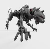 Cyber wild metal panther Royalty Free Stock Images