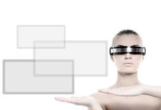 Cyber woman Royalty Free Stock Images