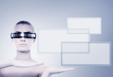 Cyber woman Stock Images