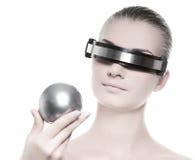 Cyber woman Royalty Free Stock Photo