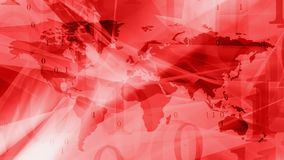 Cyber world communication red abstract background. Computer binary code and world map Stock Photo