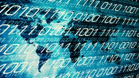 Cyber world neural network concept stock illustration