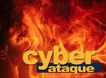 Cyberaanval royalty-vrije stock fotografie
