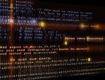 Cyberaanval stock fotografie
