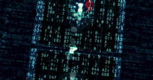 Cyberaanval en gegevensdiefstal stock illustratie