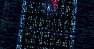 Cyberaanval en gevaren in cyberspace royalty-vrije illustratie