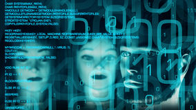 Cyberattack cyber crime bank Stock Image