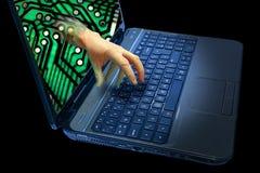 Cyberbrott Arkivfoton