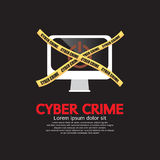 Cyberbrottbegrepp. Royaltyfria Foton