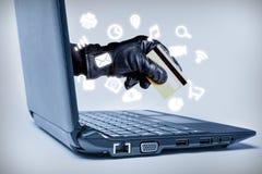 Cyberbrottbegrepp royaltyfri fotografi