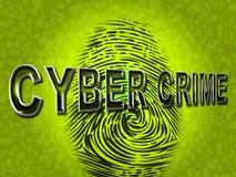 Cyberbrottet indikerar Spyware Malware och en hacker Fotografering för Bildbyråer