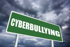 Cyberbullying sign royalty free illustration
