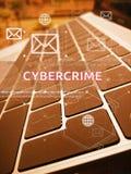 CYBERCRIME, ψηφιακές επιχείρηση και έννοια τεχνολογίας Στοκ Εικόνες