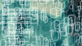 Cybercrime background, computer cyber attack. Trojan and binary code motion graphics, computer cyber attack abstract background stock footage