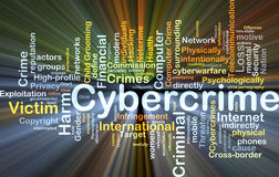 Cybercrime background concept glowing Stock Image