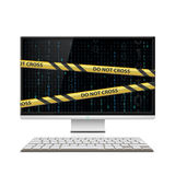 Cybercrime. Computer monitor Stock Image