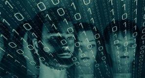 Cybercrime computer password Stock Photos