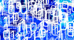 Cybercrime in cyber world, futuristic cyberwarfare Stock Photos