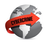 Cybercrime globe Royalty Free Stock Photo
