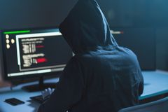 Hacker using computer virus for cyber attack Stock Photography