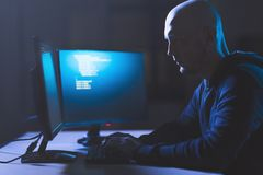 Hacker using computer virus for cyber attack Stock Images