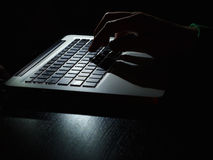 Cybercrime - secret keyboard Stock Photography