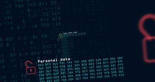 Cybercrime and secutrity looped animation