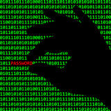 Cybercrime. A simple illustration showing computer or internet crime Stock Photo