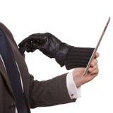 Cyberdiebstahl lizenzfreie stockfotos