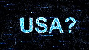 Cyberespionage in USA. Hacking of information technology. Hacking of information technology. Cyberespionage in USA stock footage