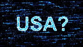 Cyberespionage in USA. Hacking of information technology. Hacking of information technology. Cyberespionage in USA stock video