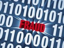 Cyberfraude in Computercode die wordt verborgen Stock Afbeeldingen