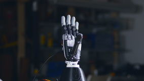 Cyberhand, robotic armgester Innovativt vetenskapsbegrepp lager videofilmer