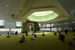 Cyberjaya清真寺在Cyberjaya,马来西亚 免版税库存图片