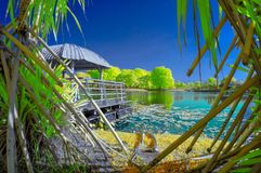 Cyberjaya Lakeside. Putrajaya in infrared mode view royalty free stock images