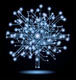 Cyberkonzepthintergrund Lizenzfreies Stockbild