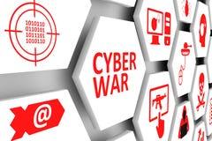 Cyberkriegskonzept Lizenzfreies Stockfoto