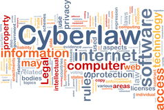 Cyberlaw background concept stock illustration
