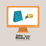 Cybermåndag design Royaltyfri Foto